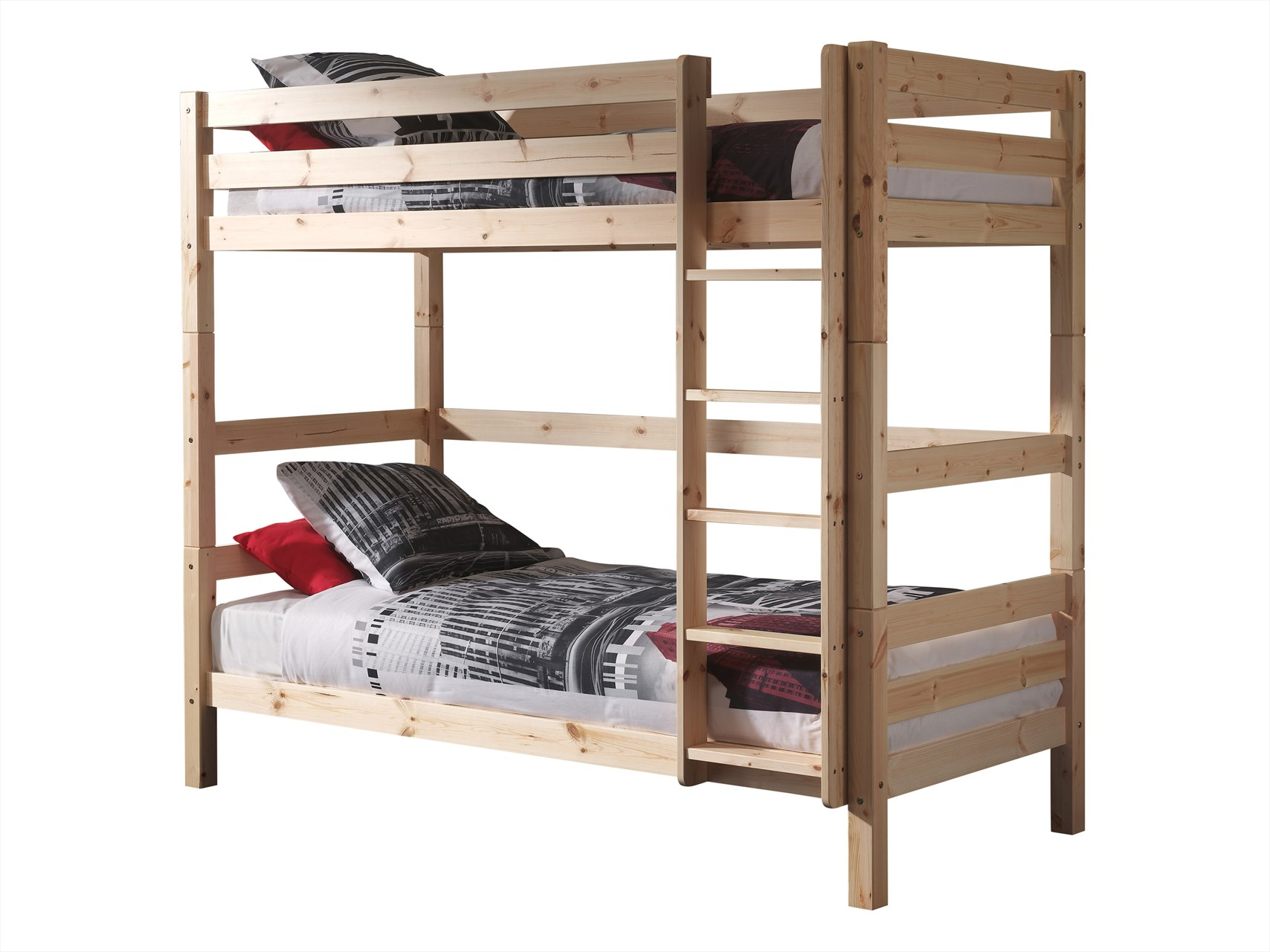 Stapelbed 180 Cm Hoog.Vipack Stapelbed Pino Natuur Hout 180cm