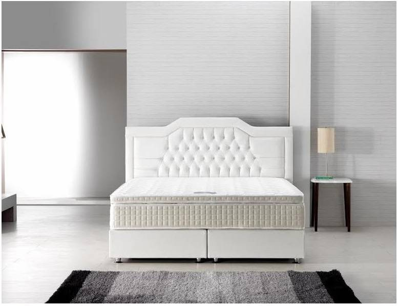 Boxspring royal crown ecru online bedden shop